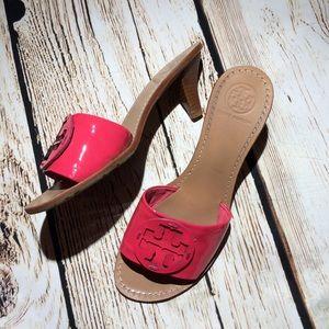 Tory Burch Pink sling back heels 9.5